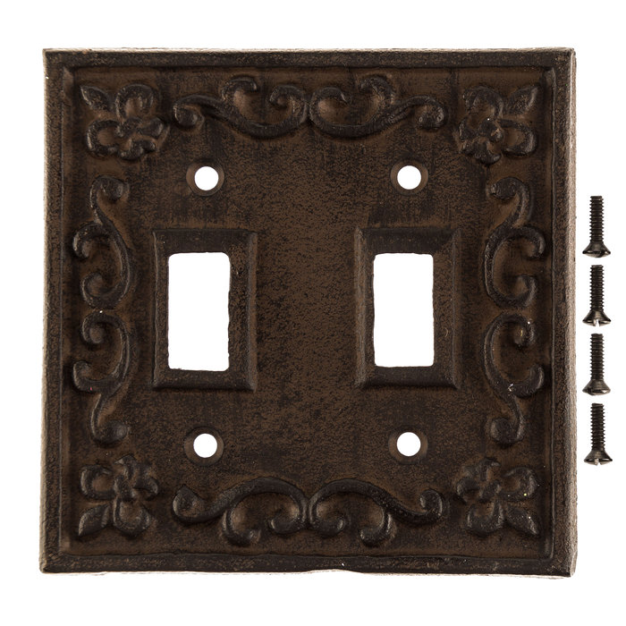 Rust Cast Iron Double Switch Plate Hobby Lobby 466367